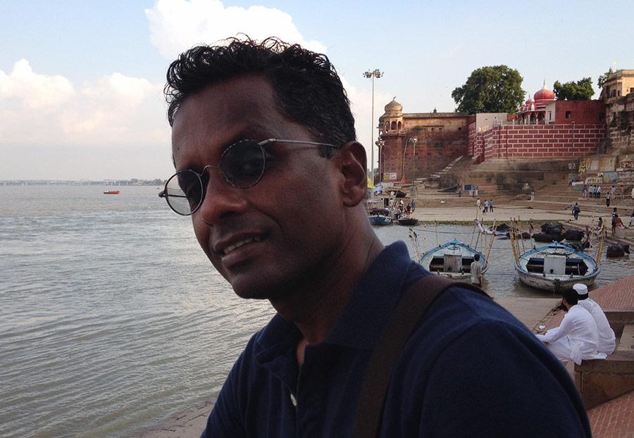 Portrait of author Shyam Selvadurai